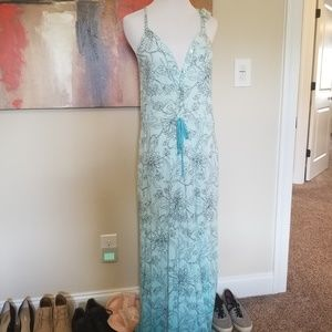 Gypsy 05 ombre maxi dress with pockets xs